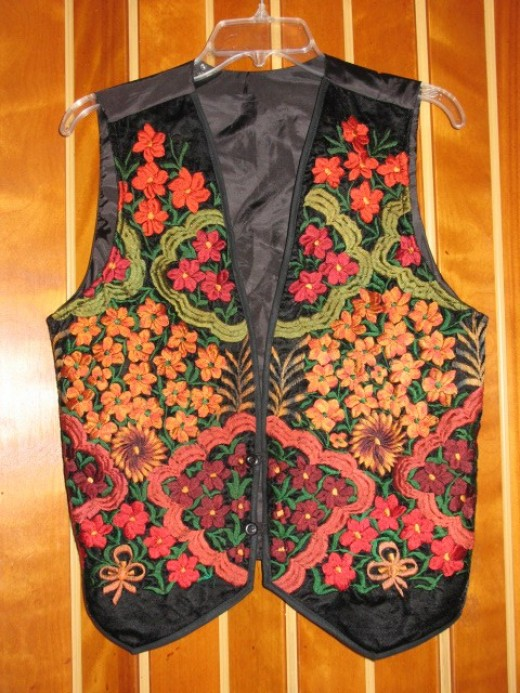 what a vest looks like before I cut it up.