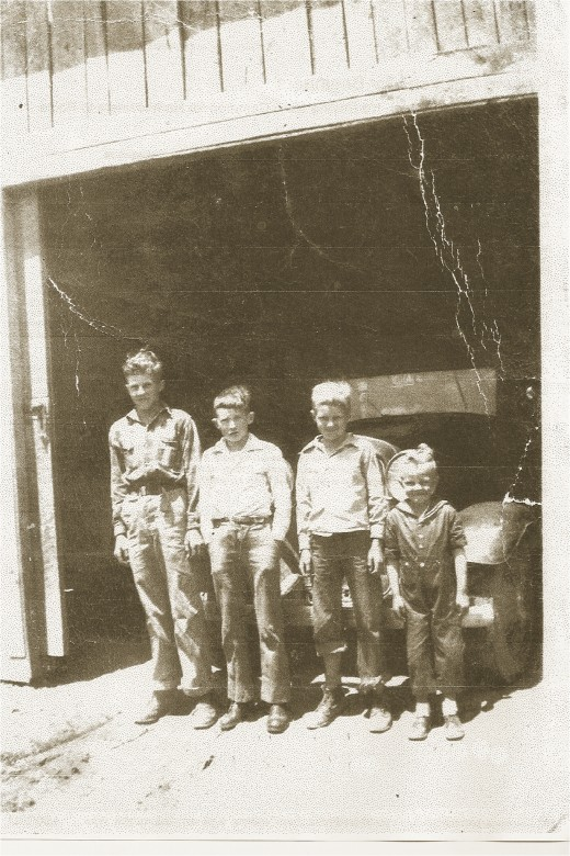 Frank Dockery, Gerald Stiles, Albert Dockery, and Roy Dockery