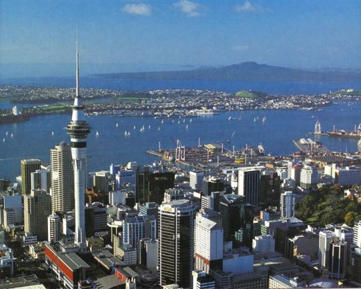 "This is the view we got taken from the ""Sky Tower"". Such an amazing sight!"