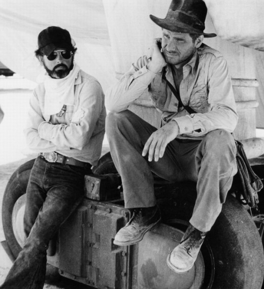 George Lucas with Harrison Ford