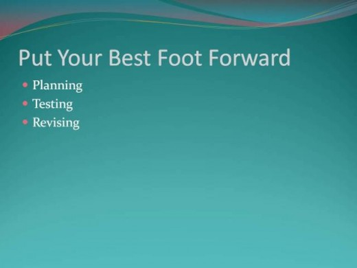 For greater success, put your best foot forward from the beginning when developing a home based business