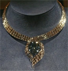 The Hope Diamond as it appears today on display at the Smithsonian Museum