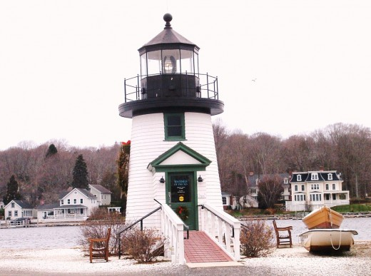 Replica Lighthouse which has an exhibit about lighthouses inside it.