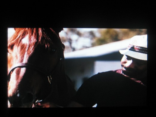 Eddie Sweat and Secretariat -in the movie (Photo by Travel Man)