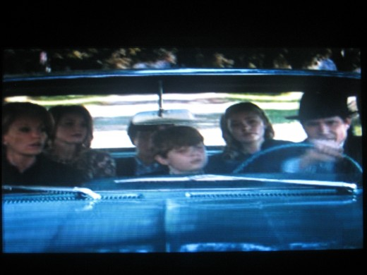 "Mrs. Penny's family in the movie, with husband Jack and four children (Photo by Travel Man in the movie ""Secretariat"")"