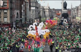 St Patrick's Day parade in Dublin.