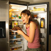 GIRLS WHO SNEAK INTO YOUR KITCHEN IN THE MIDDLE OF THE NIGHT TO GET A SNACK--BUT THEY ARE SO NOISY YOU CANNOT SLEEP.