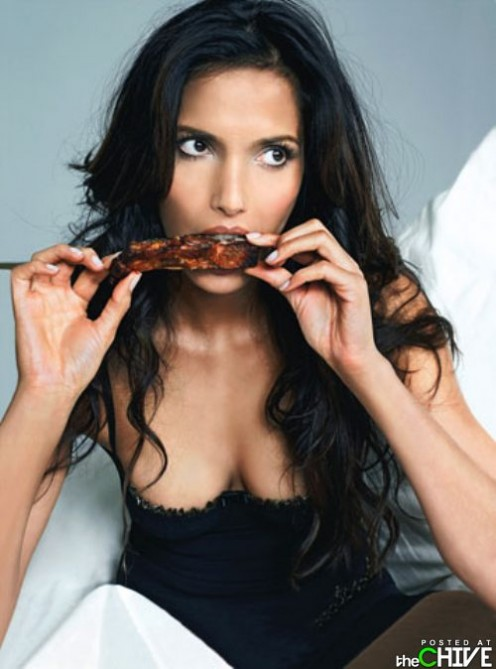 THIS ONE IS FOR GIRLS: DON'T YOU HATE IT WHEN GIRLS EAT MESSY THINGS LIKE RIBS AND STILL LOOK GOOD?