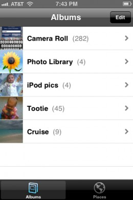 Your new album will appear in the list of photo albums at the end of the process.