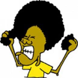 Hair pulling cartoon; trichotillomania