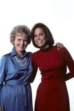 Betty White and Mary Tyler Moore during the Mary Tyler Moore show years, 1970-1977.