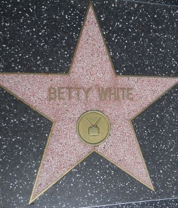 Betty White's star on the Hollywood Walk Of Fame, next to the star of her Husband of 18 years, Allen Ludden, who passed away in 1981 from stomach cancer.