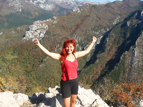 NP Paklenica, Velebit, Tatjana-Mihaela... In that very moment I felt like I was on the top or the world. October 2008.