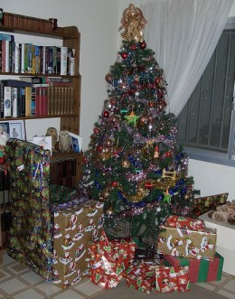 Wrapping the presents and putting them under the Christmas tree in plain sight may work for you.