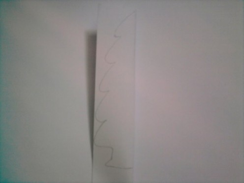 Part 2- Draw one side of a Christmas tree.