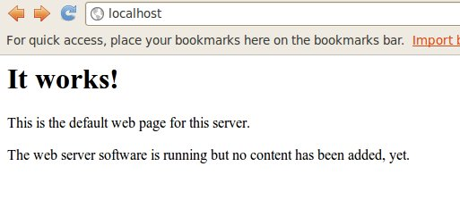After setting up localhost.