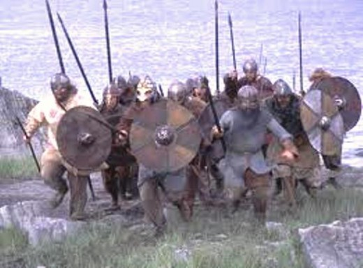 A warband charges up the strand as one man, each dependant on the other to watch his back in the event of counter-attack