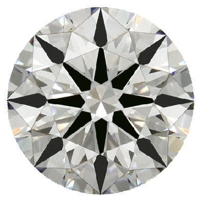 A brilliant round cut diamond.