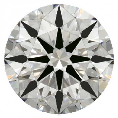 A brilliant round cut diamond.
