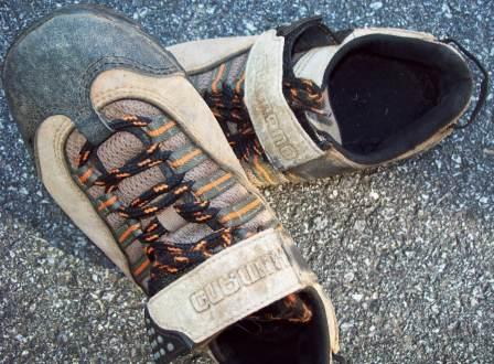 """Clipless"" shoes make it easier to navigate jumps and berms."