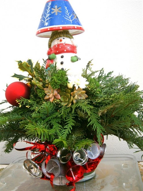 Dress up container with jingle bells and ring in the season.