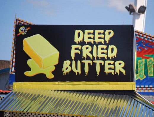 Fried butter, fried cheese, and fried Twinkies are NOT heart healthy foods!