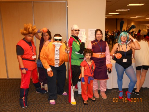 This is my group cosplaying as characters from Dragon Ball and Dragon Ball Z.