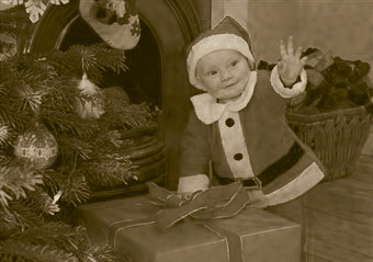 Mother Superior Sister Winifred's special Christmas gift, Nickolas, at 12 months old.