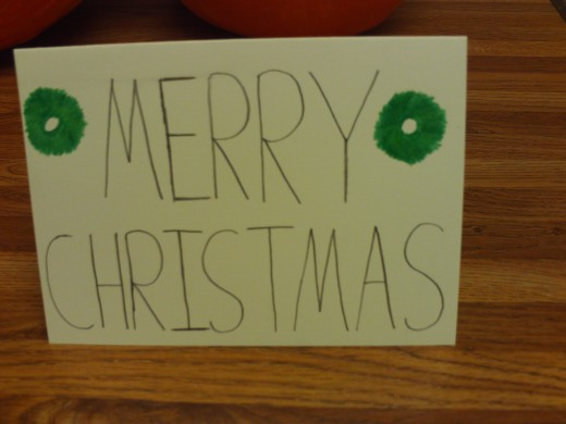 Here I added a wreath to each side of the card.