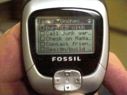Fossil Wrist PDA