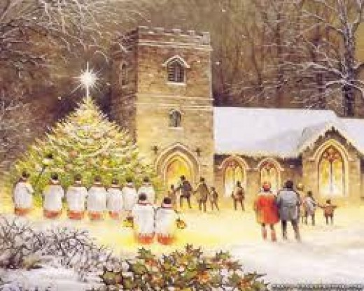 A typical traditional Christmas - visit a church on Christmas day