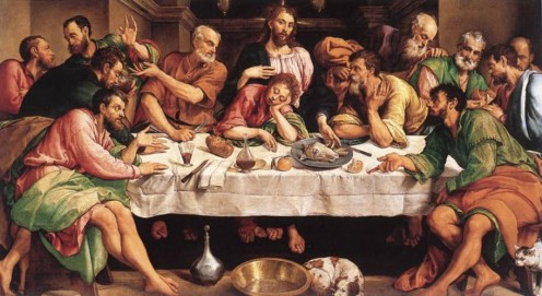 """Last Supper"" - by Jacopo Bassano (1542)"