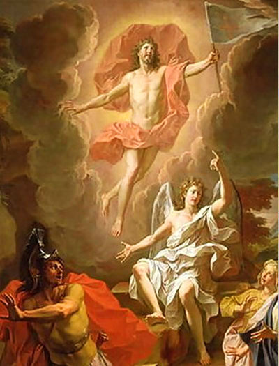"""Resurrection of Christ"" - by Noel Coypel (1700s)"