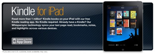 Kindle Application for the iPad
