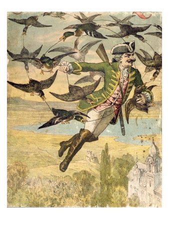The fantasy Baron Munchausen from whom Munchausen syndrome, and Munchausen by proxy are named.