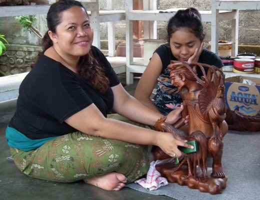Wood carvers of Bali