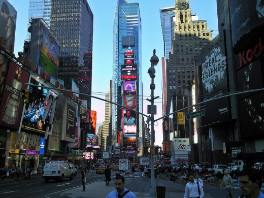 The famous Times Square, New York.