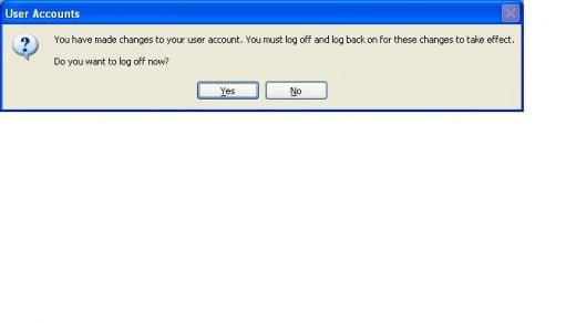 You can log off immediately or later on, but you must log off and then log back on for the changes to take effect.