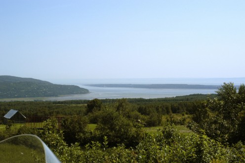 Baie-St-Paul with Isle-aux-Coudres in the distance
