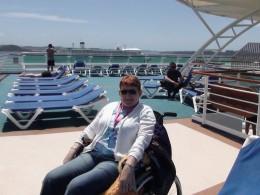 "Relaxing aboard the ""Sun Princess"""