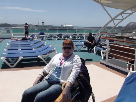 "Relaxing aboard the ""Sun Princess"""