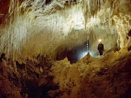 "Inside ""Waitomo Glow Worm Caves"""