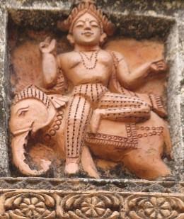 Lord Vishwakarma sitting on an elephant