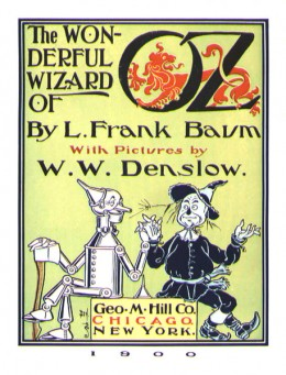 The title page of The Wonderful Wizard of Oz,