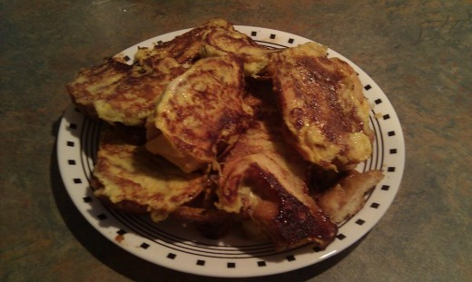 French Toast made with bakery morning buns