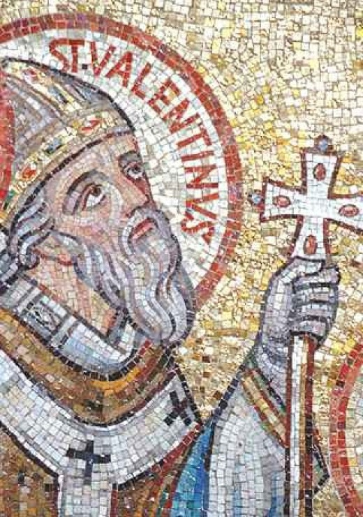 St.Valentine. Smirking like it's not all his fault.