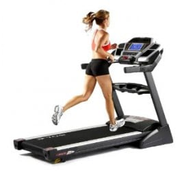 Working out on a Sole treadmill