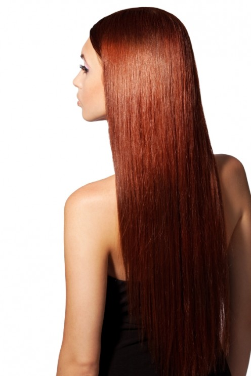 STRAIGHT LONG RED HAIR