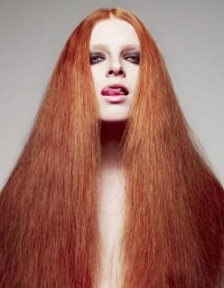 FLUFFY LONG RED HAIR