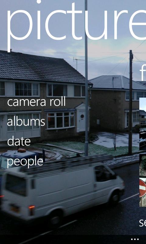 Picture hub, Nokia Lumia-800 Windows Phone